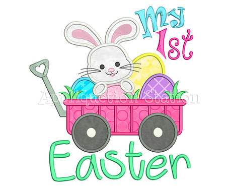 My 1st Easter Wagon with Bunny and Eggs