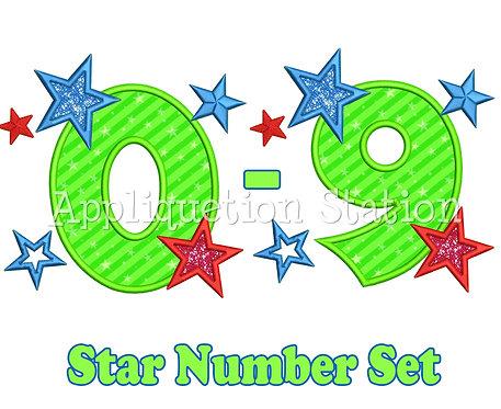 Boy Star Number Set 0-9