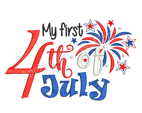 My 1st 4th of July Word Art
