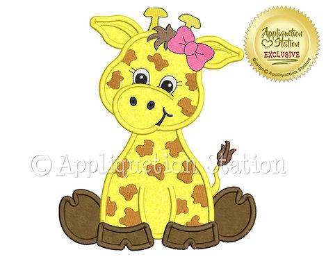 Zoo Baby Giraffe Girl