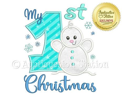 My 1st Christmas Baby Snowman