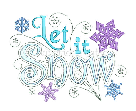 Let it Snow Swirls Word Art