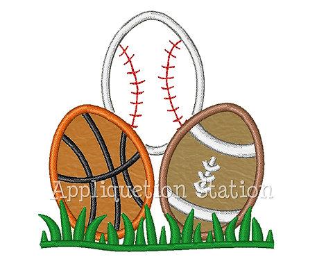 Easter Sports Egg Stack