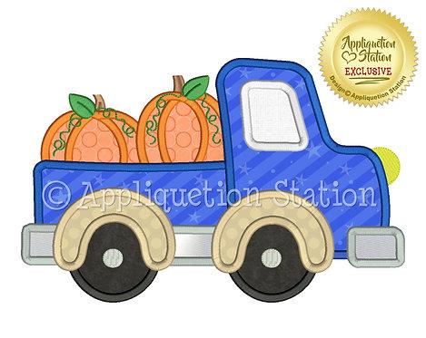 Pickup Truck with Pumpkin