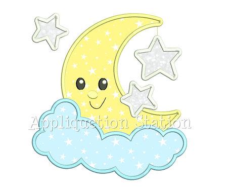 Moon and 3 stars Awake