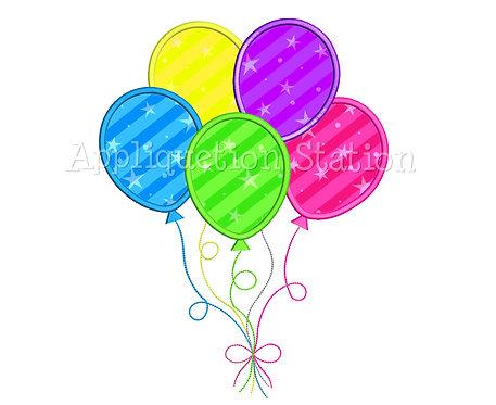 5 Birthday Balloons