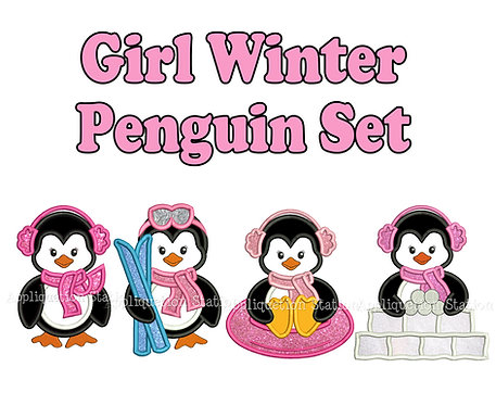 Winter Penguin Girl Set
