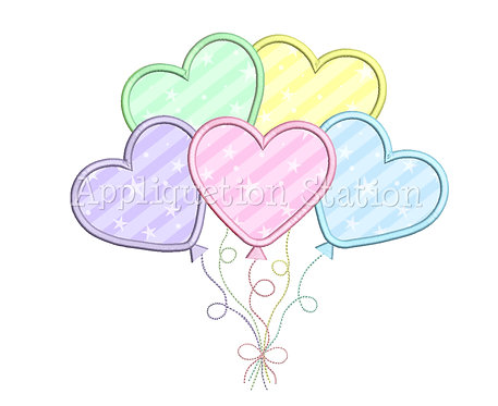 Heart Balloons Cluster