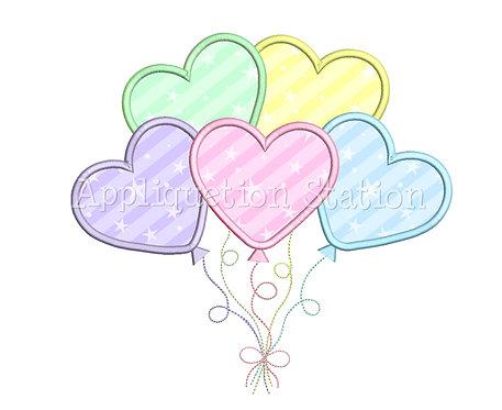 Heart Balloons Cluster