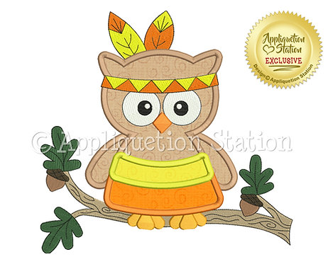 Candy Corn Owl Indian