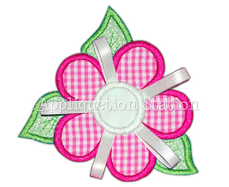Tropical Flower with 3d ribbon