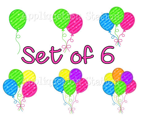 Birthday Balloon Set 1-6