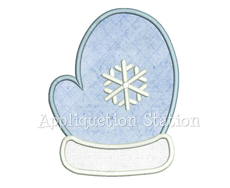 Single Mitten with Snowflake