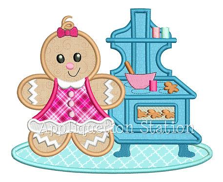 Ginger Baby Girl Baking Cookies