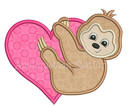 Sloth Hugging Heart