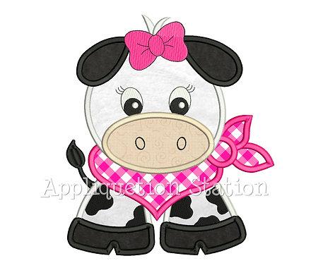 Bandana Baby Girl Cow