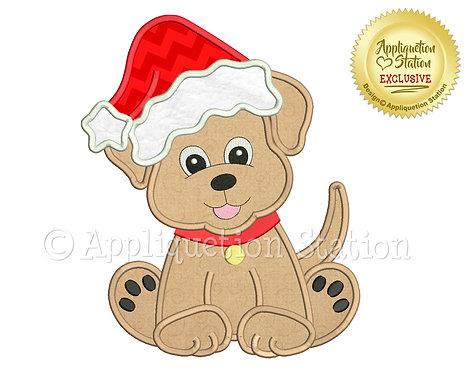 Labrador Puppy Dog Santa Hat