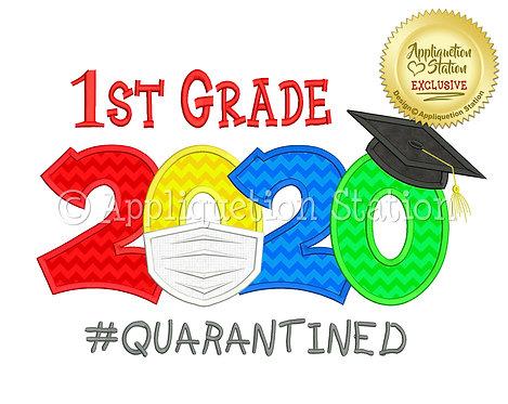 1st Grade 2020 Graduation Cap Mask #Quarantined