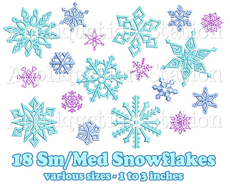 Small / Medium Snowflake Set