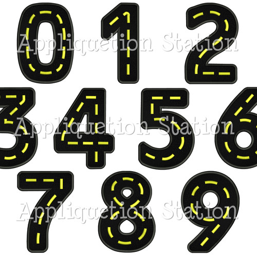 Appliquetion station number machine embroidery designs