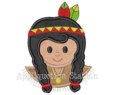 Thanksgiving Indian Girl