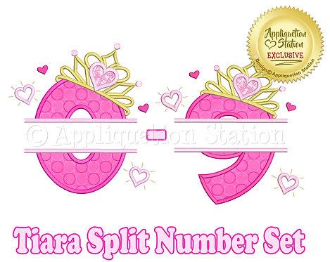 Split Princess Tiara with Hearts Number Set