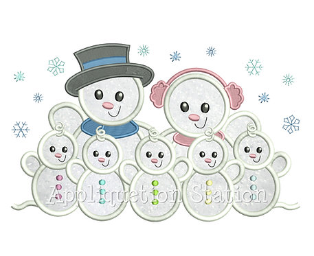 Snowman Family 5 Children / Grandchildren