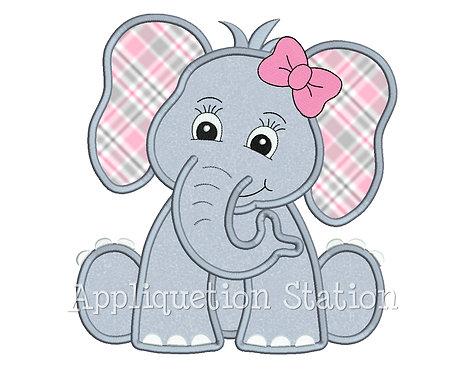 Zoo Baby Elephant Girl with Bow
