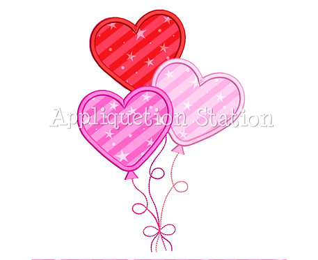 Heart Balloons Stacked Trio