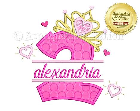 Split Princess Tiara with Hearts Number 2
