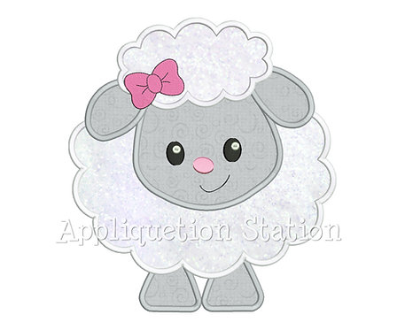 Baby Lamb with Bow