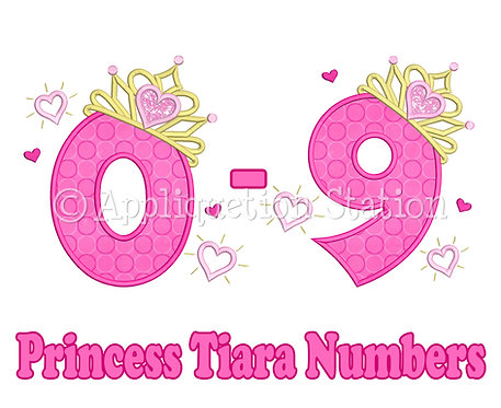 Princess Tiara with Hearts Number Set