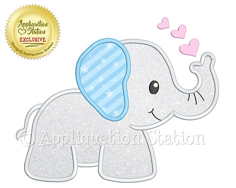 Baby Elephant with Hearts