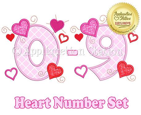 Hearts Number Set