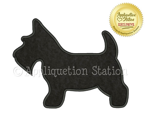 Scottie Dog Silhouette Plain