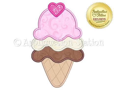 Triple Ice Cream Cone