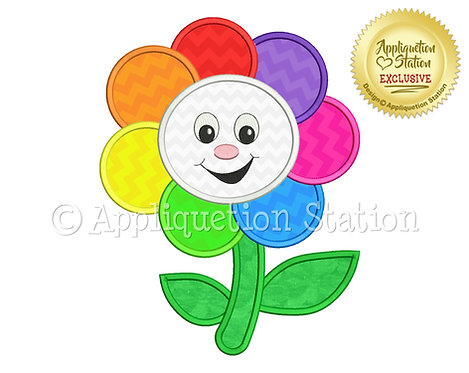 Rainbow Happy Flower