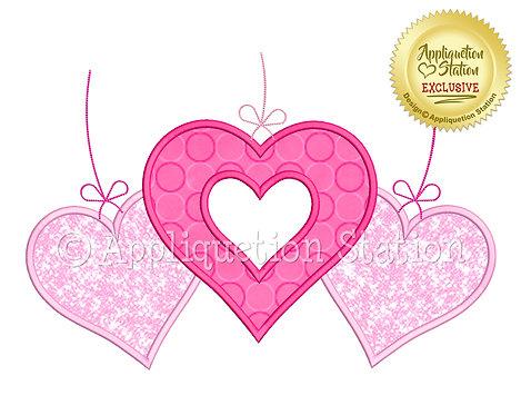 Heart Ornament Trio