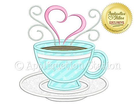 Teacup with Heart Swirls