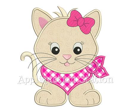 Bandana Baby Girl Kitten Cat