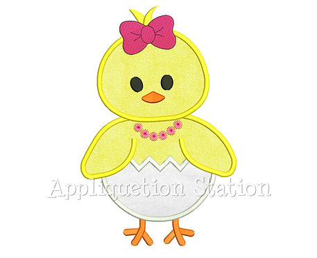 Easter Girl Chick Hatching