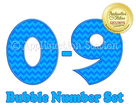 Bubble Number Set BX