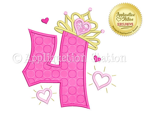 Princess Tiara with Hearts Number 4