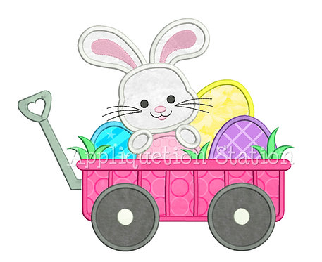 Wagon with Easter Bunny and Eggs