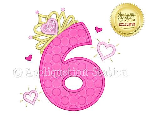 Princess Tiara with Hearts Number 6