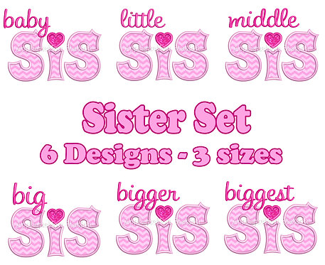 Complete Baby-Biggest Sis Heart Set