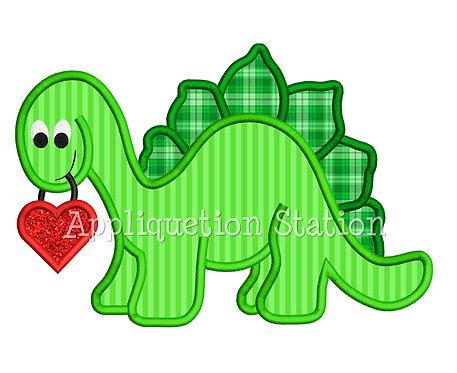 Dinosaur Holding Heart