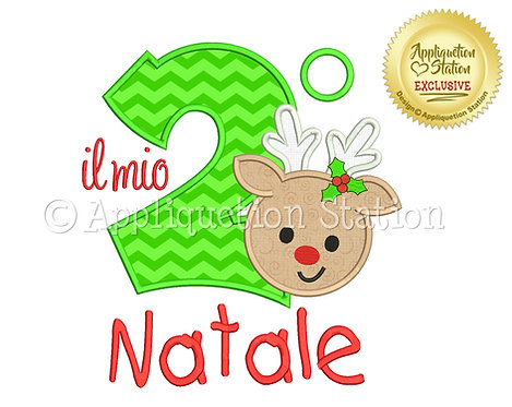 My 2nd Christmas Reindeer Italian