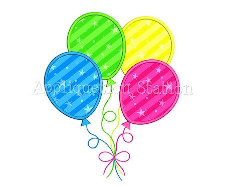 4 Birthday Balloons