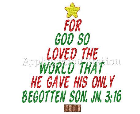 John 3:16 Christmas Tree